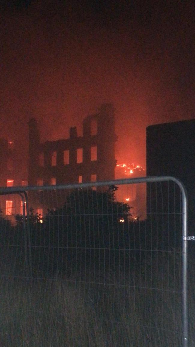 Fire at mil in Ashton-under-Lyne Credit: @manchesterfire