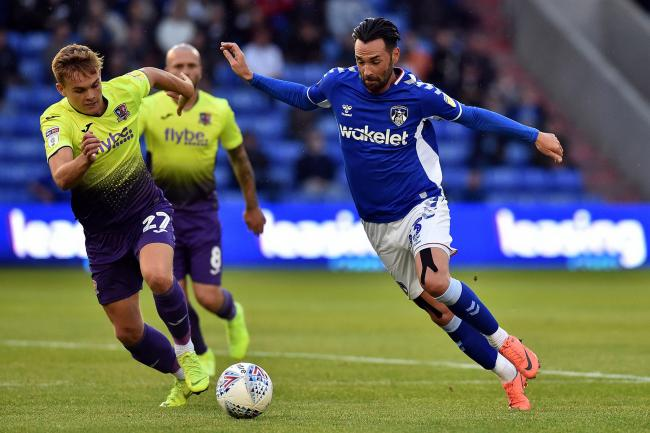 Chris Eagles in the thick of the action against Exeter