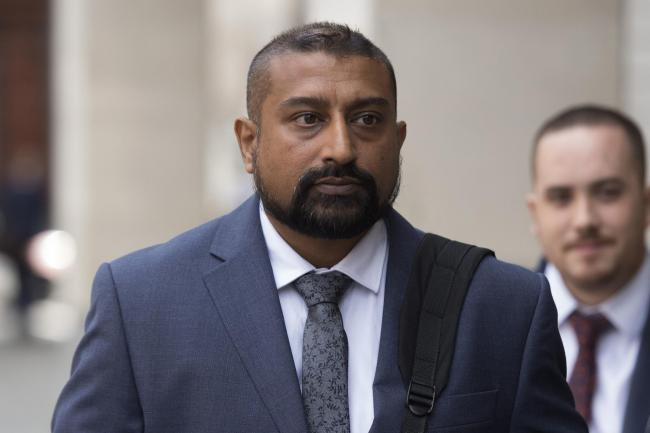 File photo dated 6/8/2019 of PC Avi Maharaj who has been jailed for 12 months at Southwark Crown Court after pleading guilty to fraud after he downloaded pornography from a grieving father's TV account. PA Photo. Issue date: Thursday September 5, 2019