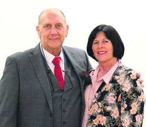 Cllr Ginny Alexander and husband Adrian
