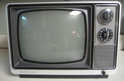 STILL IN USE: 15 homes in the Oldham borough still use black and white television sets.