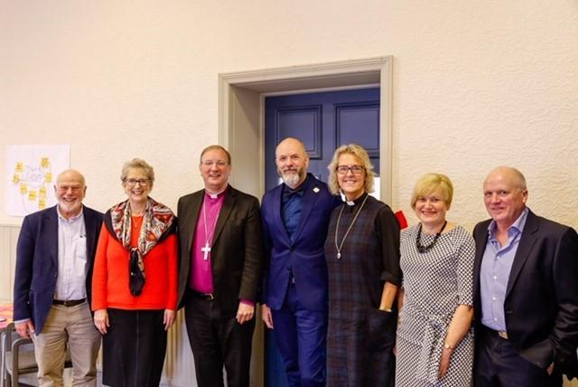 Bishop Mark Davies, Peter Burnley, CEO with Members and Trustees of Sola Fide Trust