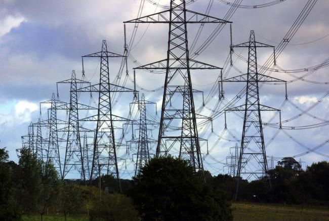 Pylons carrying electricity. Photo: PA