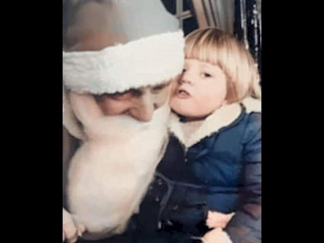 Shelley Jones (nee Prydderch) making Christmas wishes with Santa in Woolworths, Wrexham, in 1983. Picture courtesy of Shelley Jones