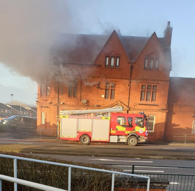 Picture of the blaze taken by The Oldham Times reader Gary Leese