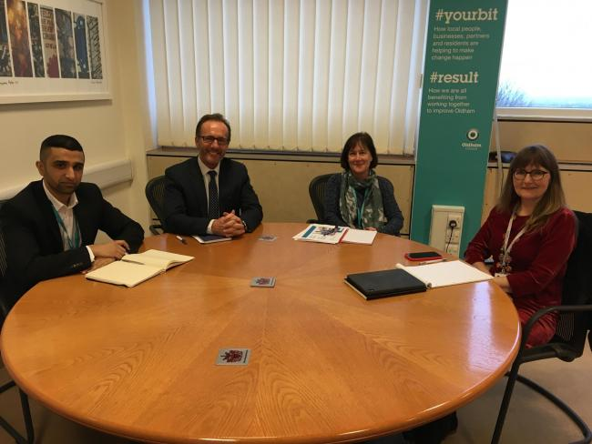 From left,Cllr Shaid Mushtaq, Andrew Sutherland, Helen Lockwood and chief executive Carolyn Wilkin