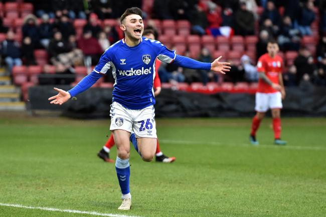 Jonny Smith celebrates his goal. Picture: Eddie Garvey