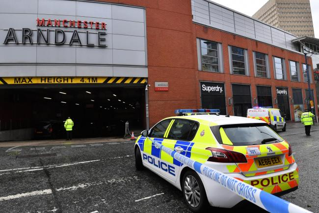 Police surround Arndale shopping centre,after an incident on October 11, 2019. Picture: Anthony Devlin