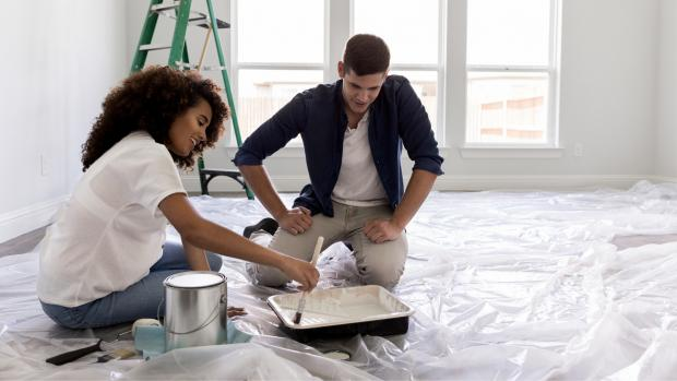 The Oldham Times: Prepping your workspace with a drop cloth or plastic covering is a key part of the process. Credit: Getty Images / SDI Productions