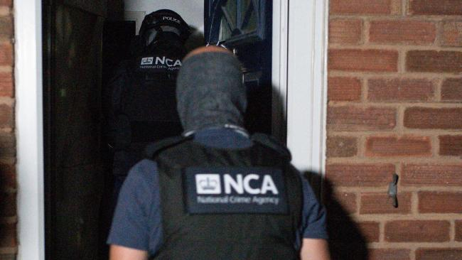 One of the Encro-Chat raids by the police and National Crime Agency