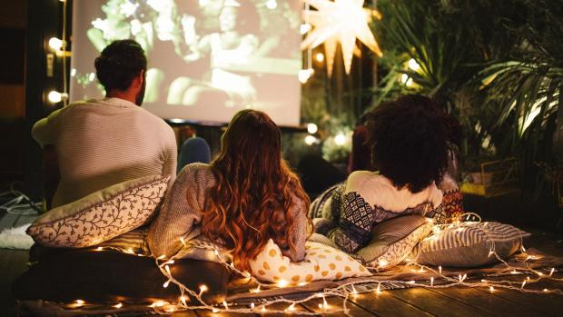 The Oldham Times: Sit back and relax with a projector and outdoor screen. Credit: Getty Images / M_A_Y_A