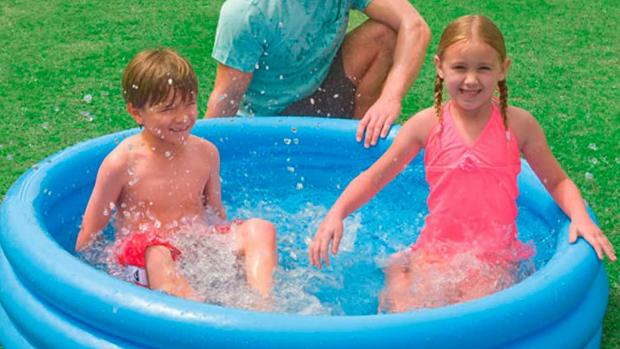 The Oldham Times: Lower your body temp with this inflatable pool. Credit: Intex
