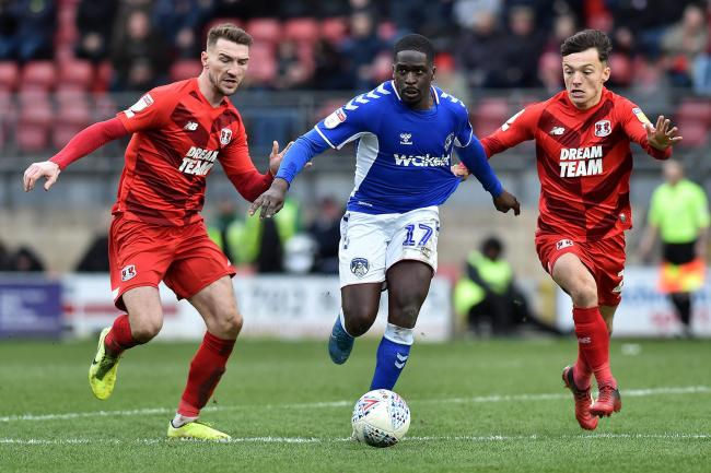 Christopher Missilou in action for Oldham. Picture: Eddie Garvey