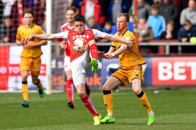 Bobby Grant, left, in action during his Fleetwood days