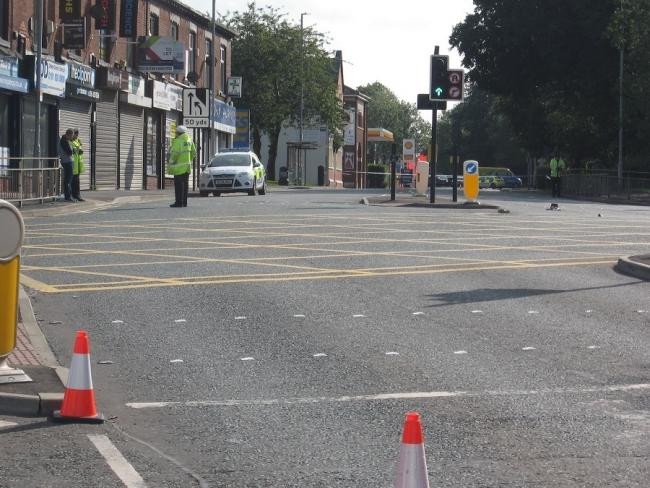 Lees Road was sealed off after the incident