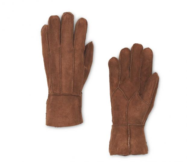 The Oldham Times: Ladies' Brown Lambskin Gloves. Picture: Aldi