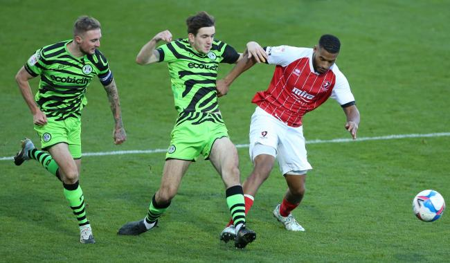 Cheltenham Town's Reuben Reid (right) has joined Yeovil Town