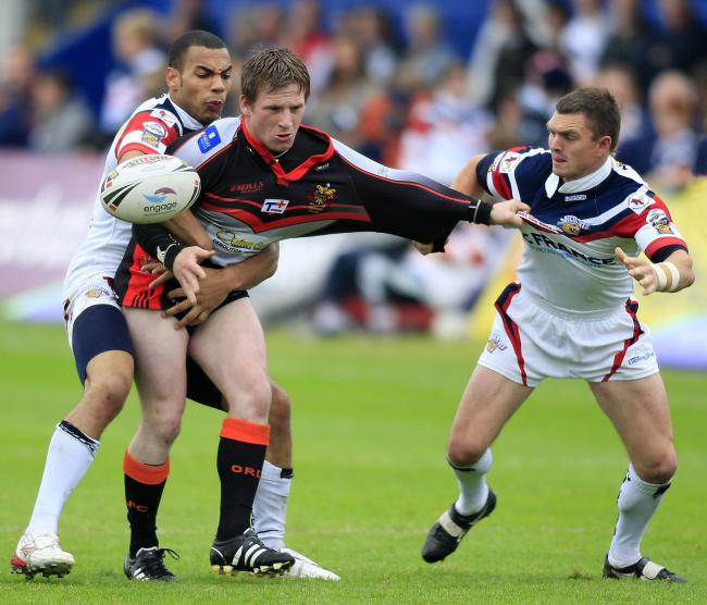 Matty Brooks gets shirty during the 2008 meeting with Wakefield