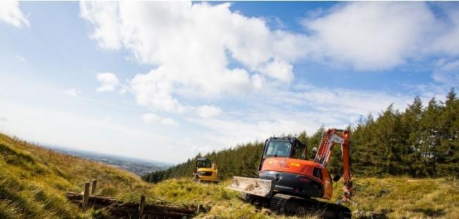 FLOOD CONTROL: Natural flood management work taking place at Crompton Moor
