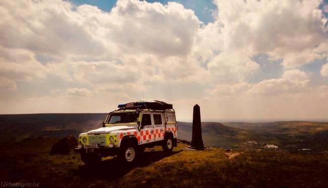 RESCUE: The Oldham Mountain Rescue Team Land Rover at Pots and Pans
