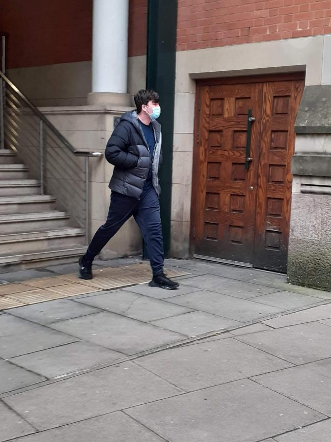 Connolly leaving court after being spared jail