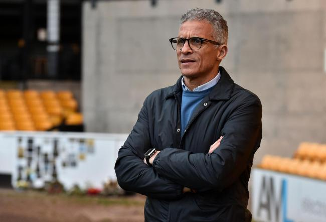 Oldham Athletic head coach Keith Curle