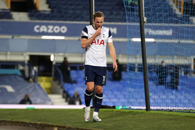 Harry Kane suffered an ankle injury during Tottenham's 2-2 draw at Everton last week