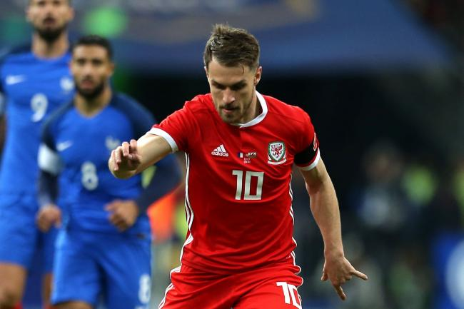 Aaron Ramsey in action for Wales