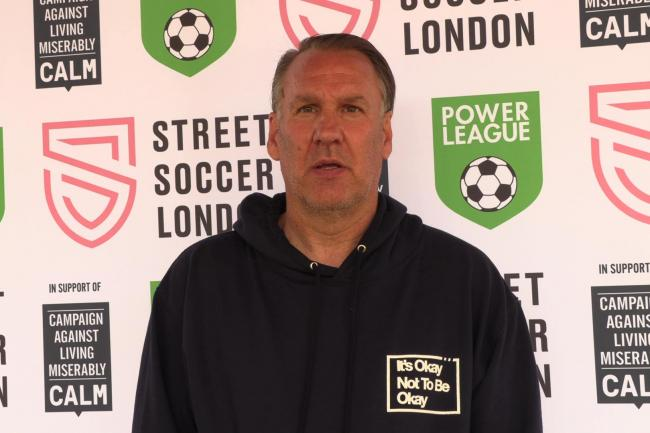 Paul Merson says his desire to live gave him the strength to speak up about his battles with addiction and depression