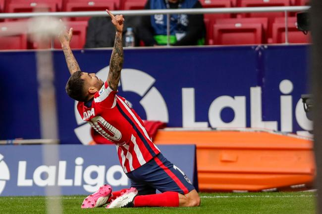 Angel Correa helped Atletico Madrid back to the top of LaLiga
