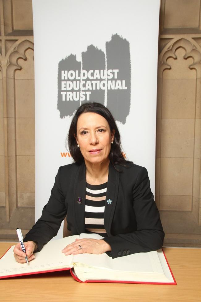 Oldham MP Debbie Abrahams marks Holocaust Memorial Day