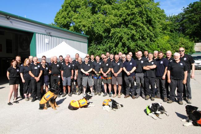 Heros of the inferno, the Oldham Moutain Rescue Team.