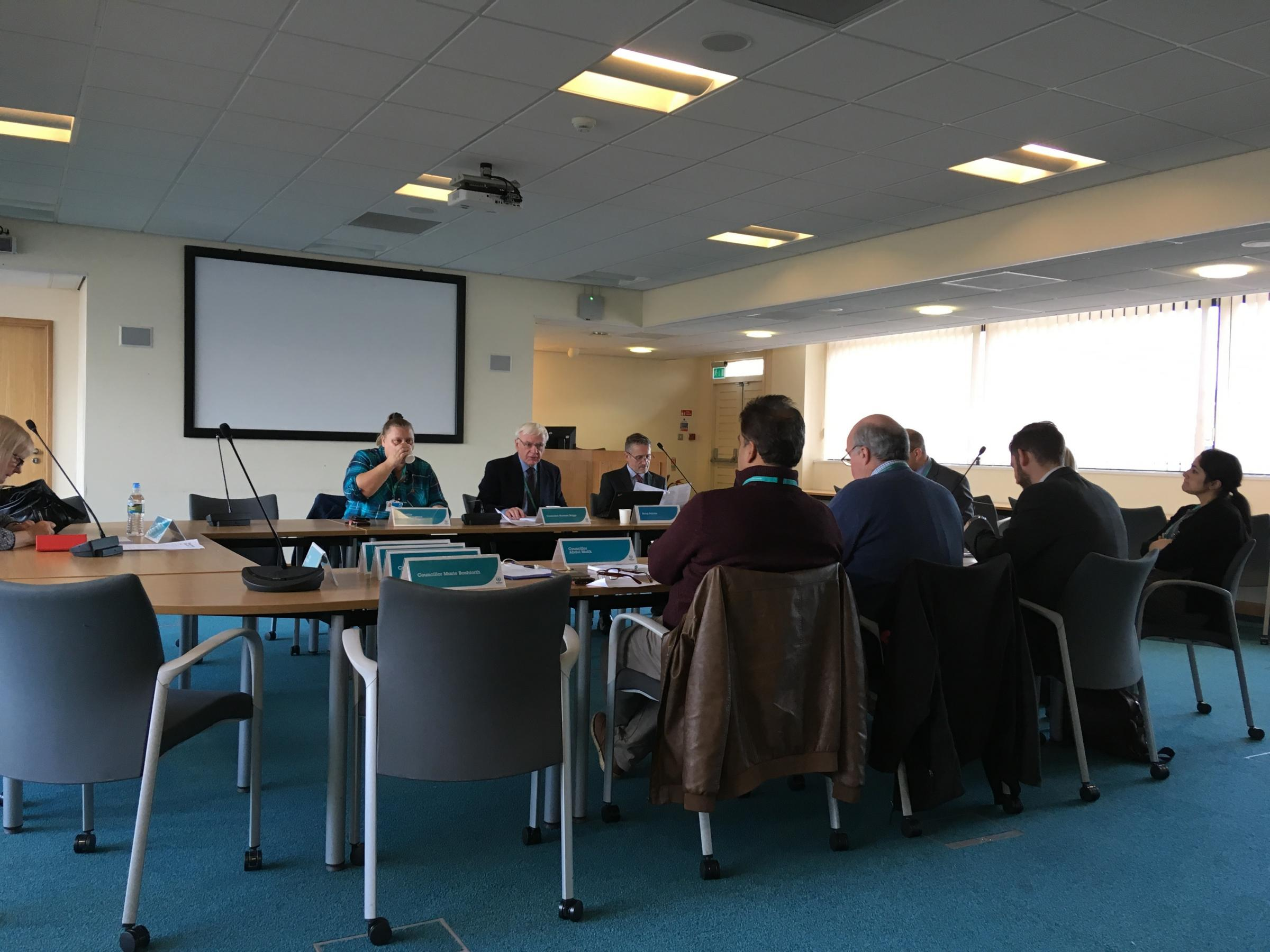 Oldham Licensing Committee in session