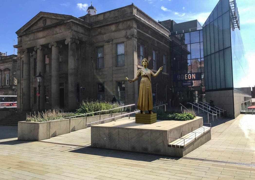 The statute that will be installed to commemorate Oldham suffragette Annie Kenney