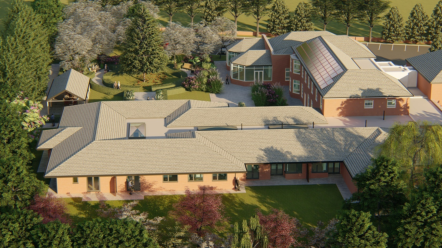 Design image of the new 12-bed in-patient unit at Dr Kershaw's Hospice which is expected to start in March 2019.
