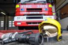 A fire engine and equipment