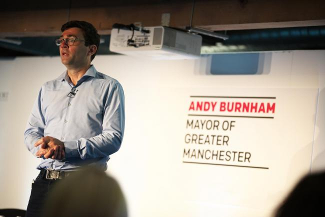 GM mayor Andy Burnham, courtesy of the GM combined authority