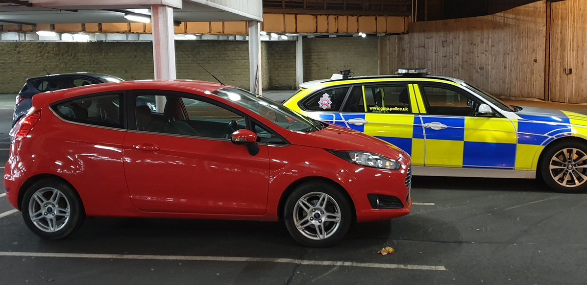 Police stopped this Ford Fiesta in Oldham