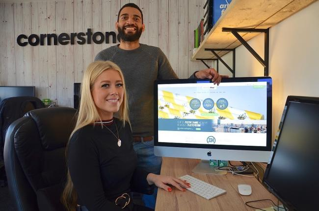 Nicola Adamson and Mubarak Panti of Cornerstone Design & Marketing who designed and developed the plastic free GM website