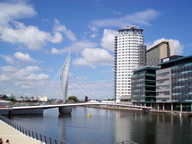 Media City, Salford Quays..By Roy Higson from Horwich.