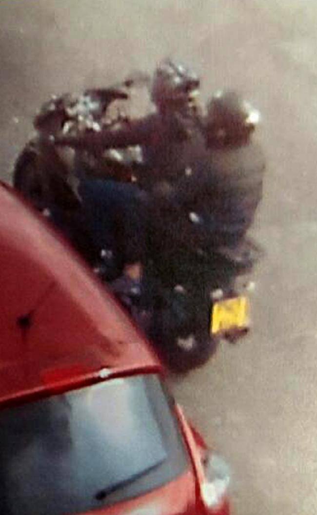 Motorbike at the scene of the shooting