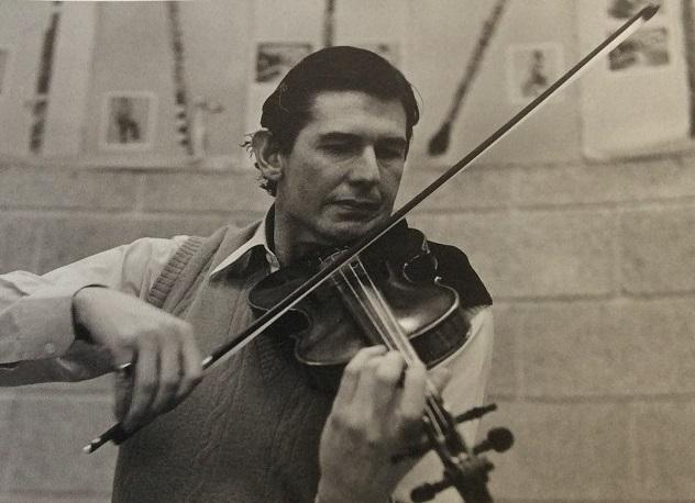 Donald Clarke in his violin playing heyday