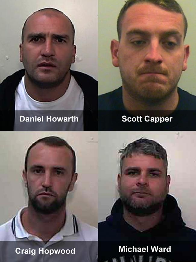 Daniel Howarth, Scott Capper, Craig Hopwood and Michael Ward
